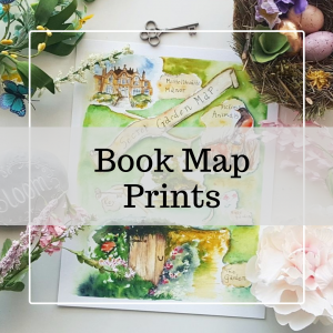 Book Map Prints